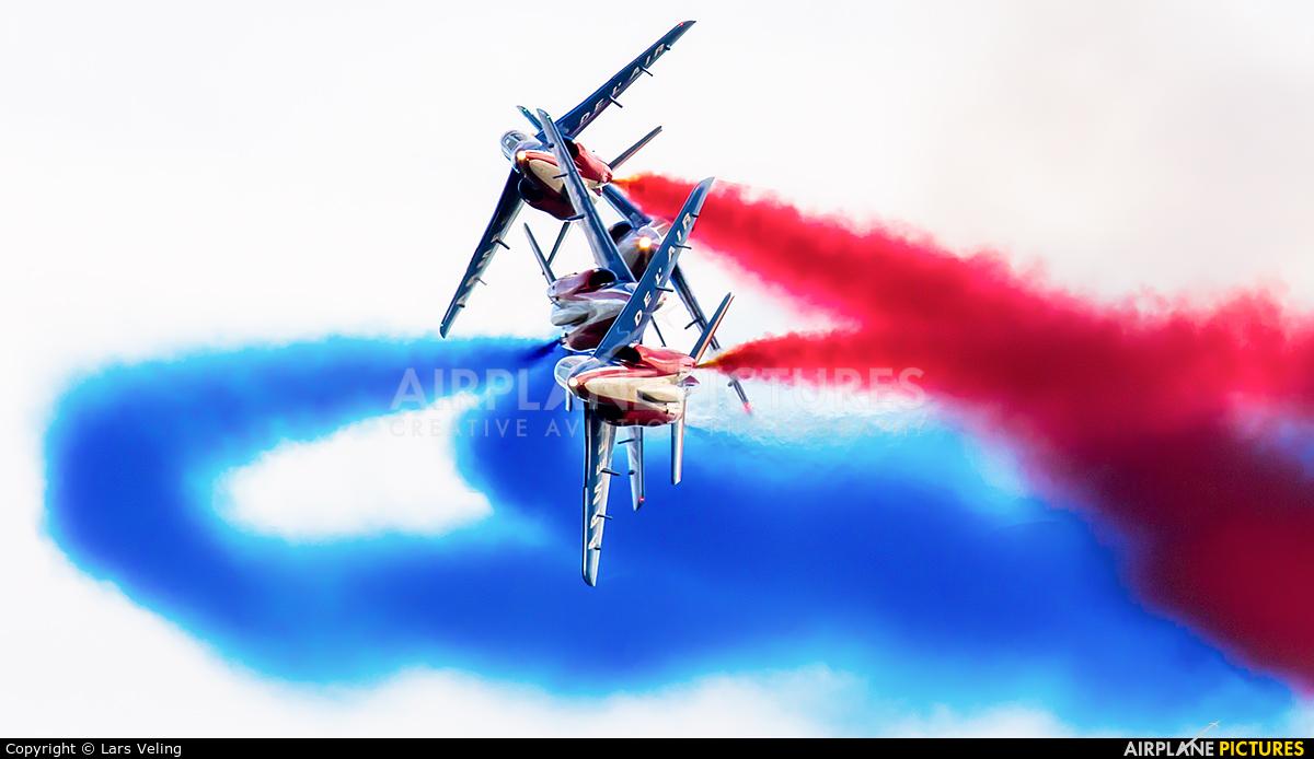 """France - Air Force """"Patrouille de France"""" E114 aircraft at Leopoldsburg - Beverlo"""