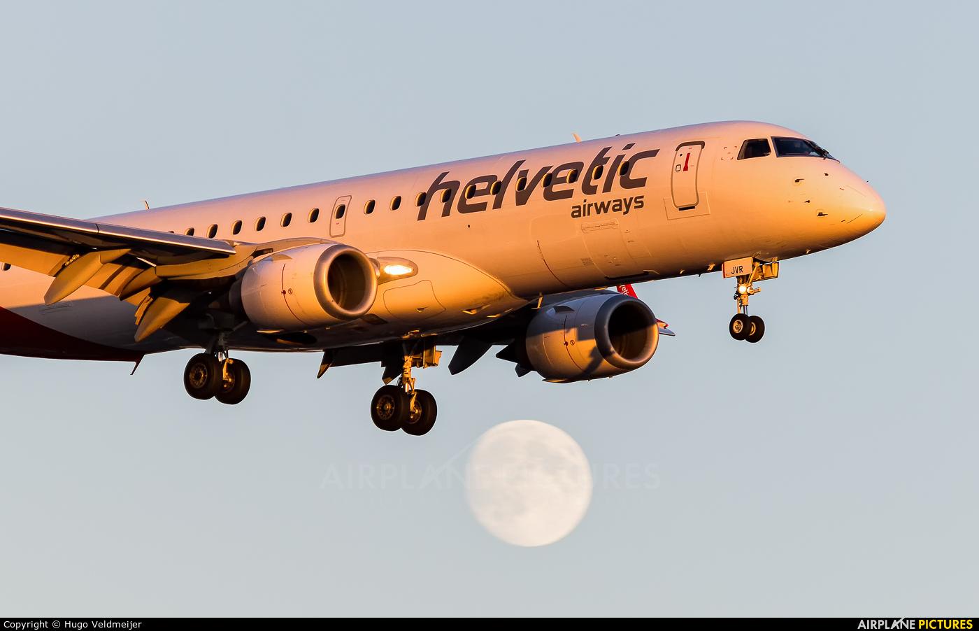 Helvetic Airways HB-JVR aircraft at London - Heathrow