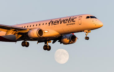 HB-JVR - Helvetic Airways Embraer ERJ-190 (190-100)