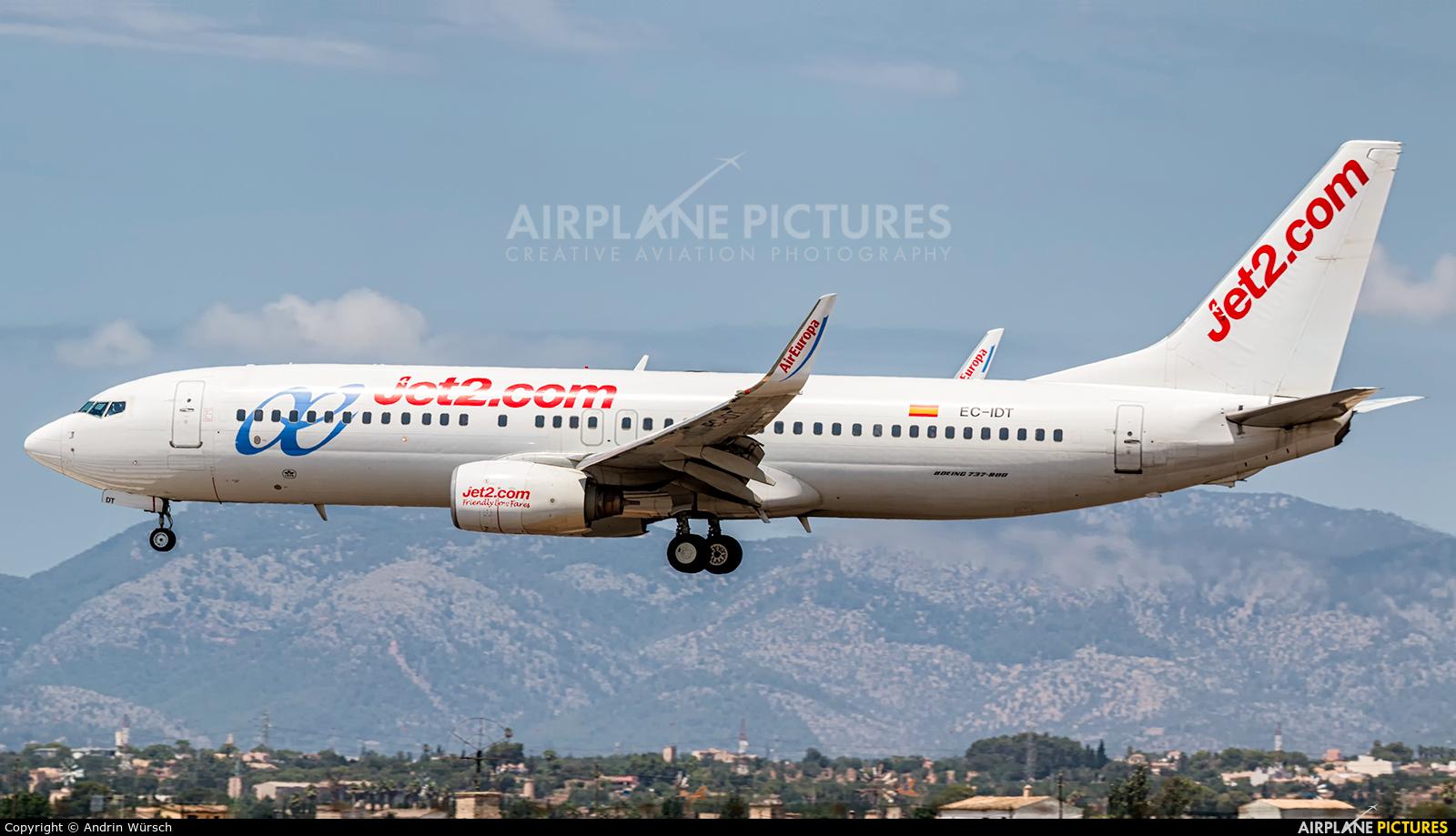 Jet2 EC-IDT aircraft at Palma de Mallorca