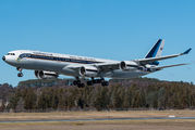 Thai Air Force Airbus A340-500 visits Canberra title=
