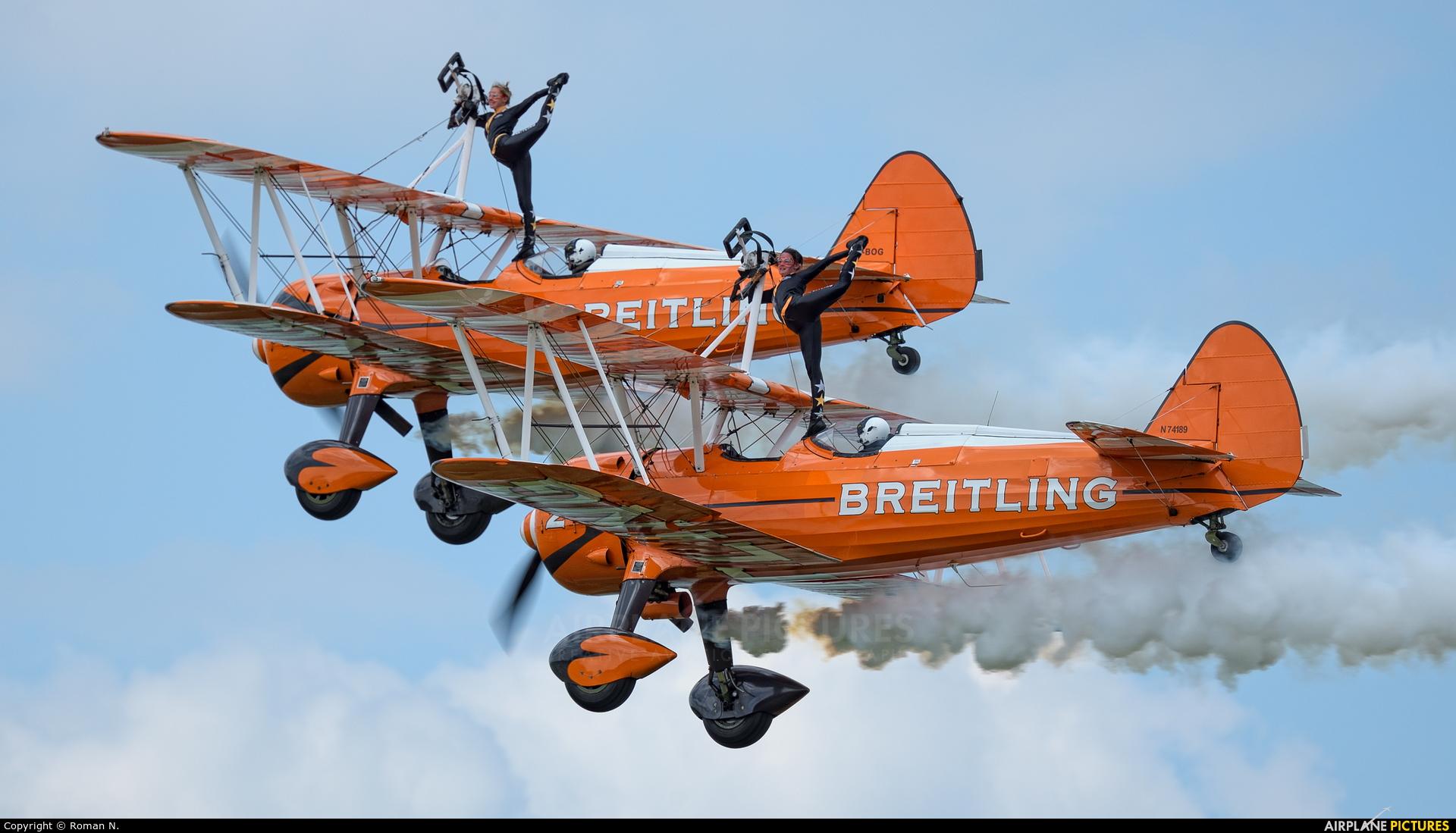 Breitling Wingwalkers N74189 aircraft at Oostwold