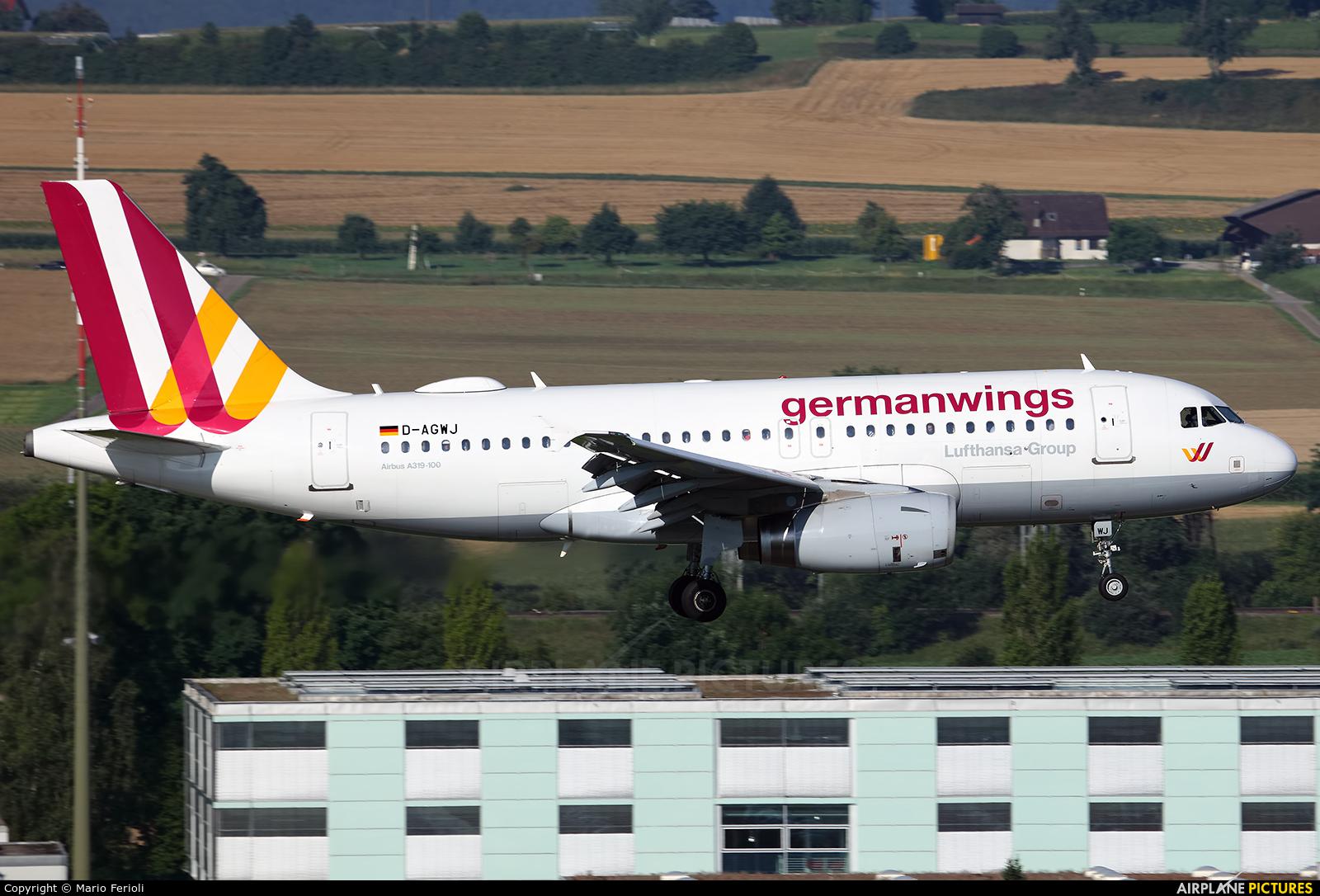 Germanwings D-AGWJ aircraft at Zurich