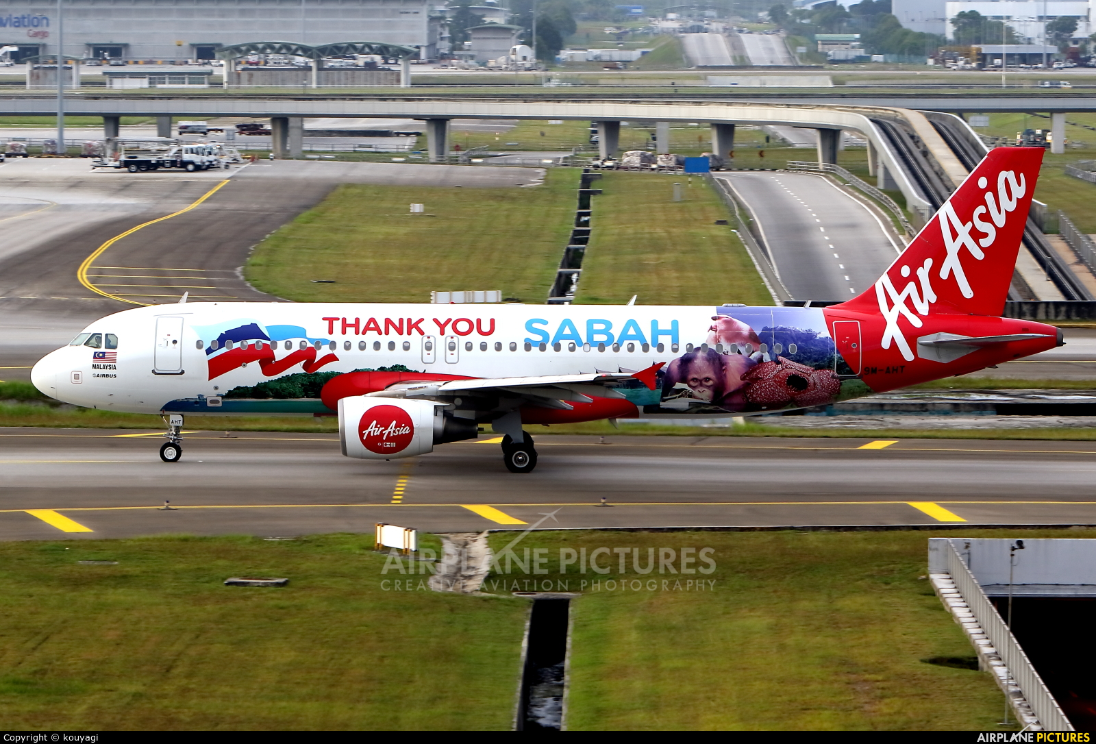 AirAsia (Malaysia) 9M-AHT aircraft at Kuala Lumpur Intl