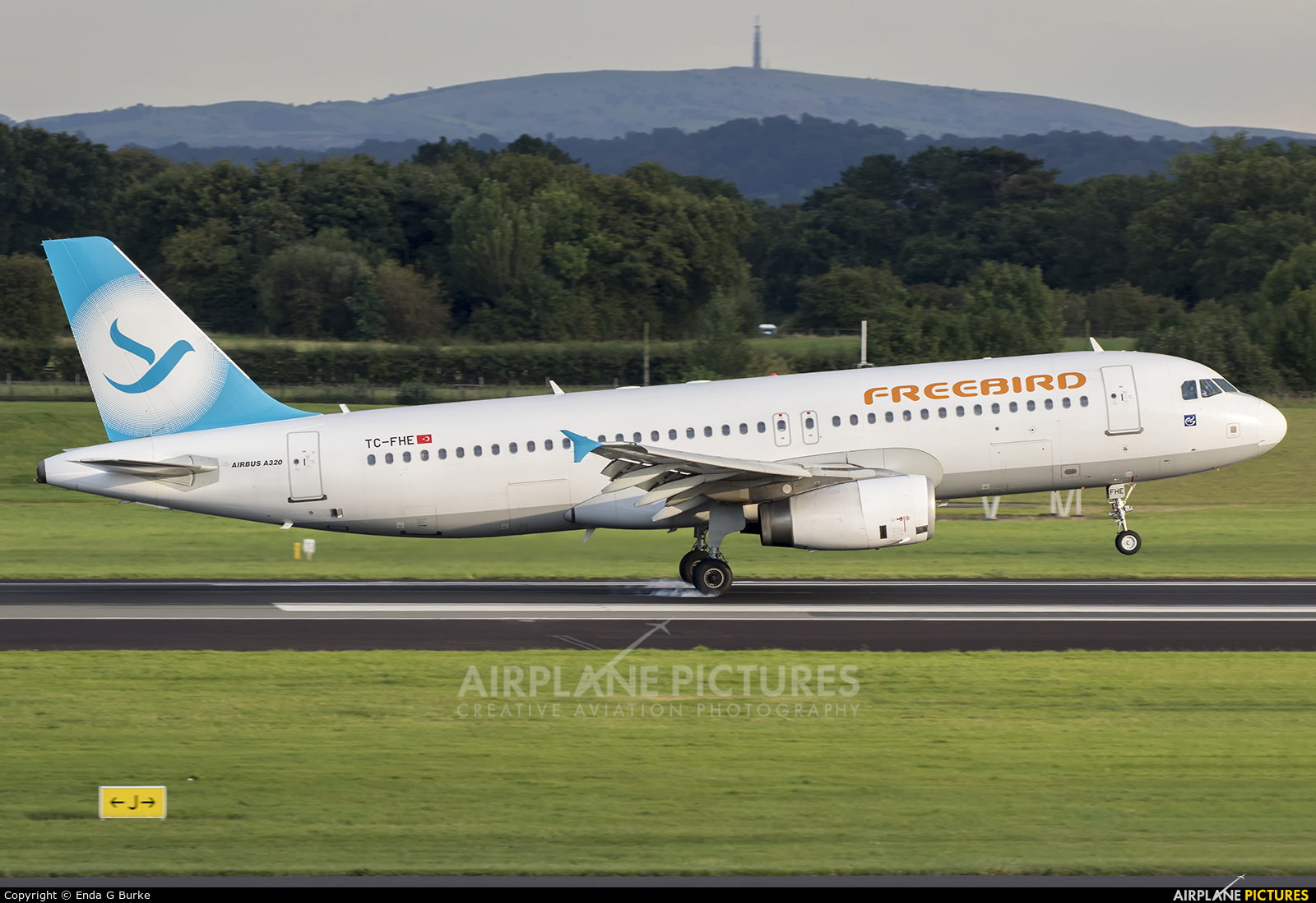 FreeBird Airlines TC-FHE aircraft at Manchester