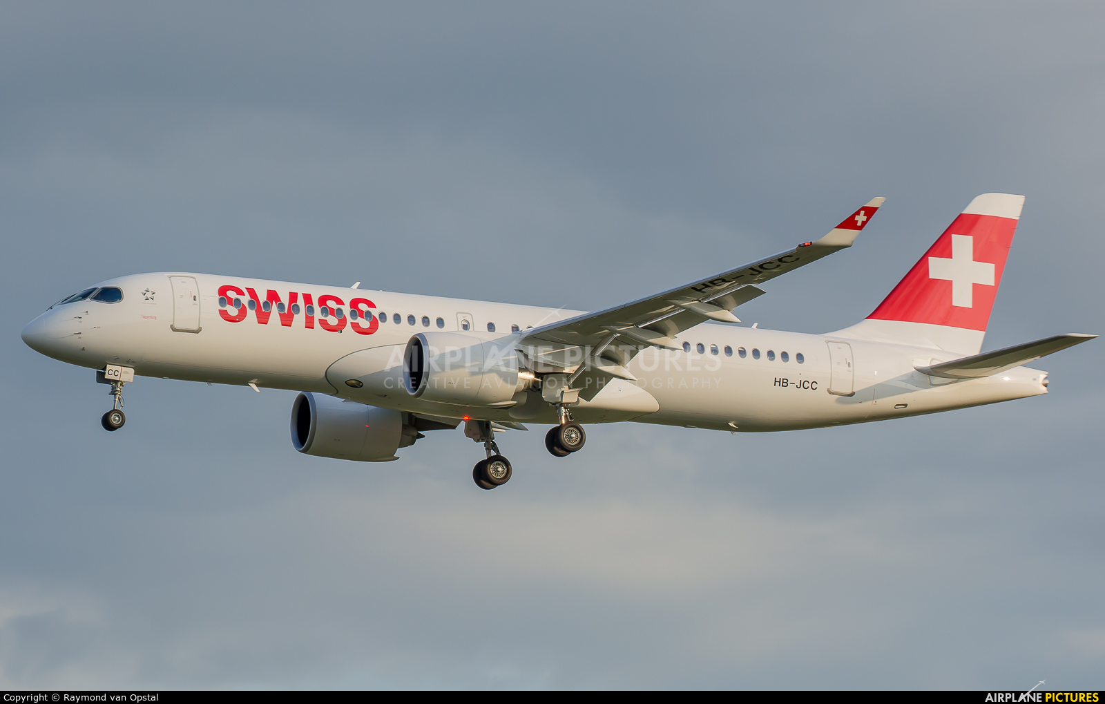 Swiss HB-JCC aircraft at Amsterdam - Schiphol