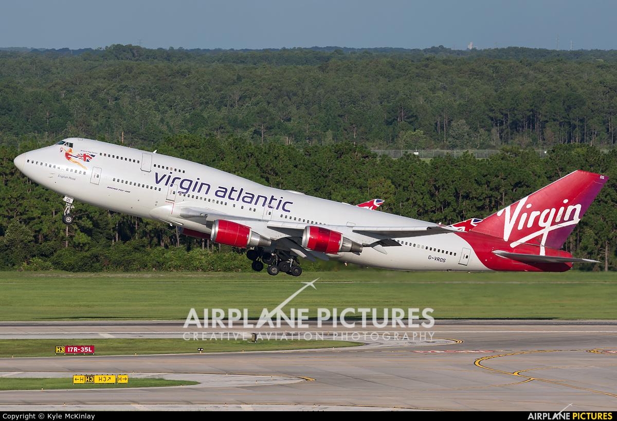 Virgin Atlantic G-VROS aircraft at Orlando Intl