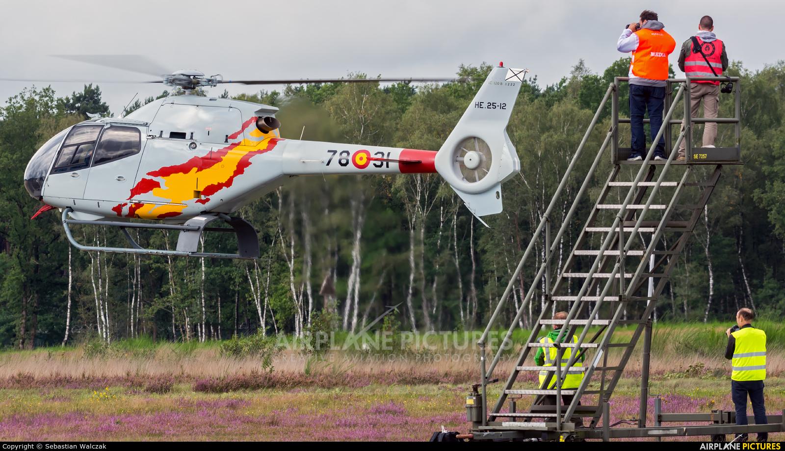Spain - Air Force: Patrulla ASPA HE.25-12 aircraft at Kleine Brogel
