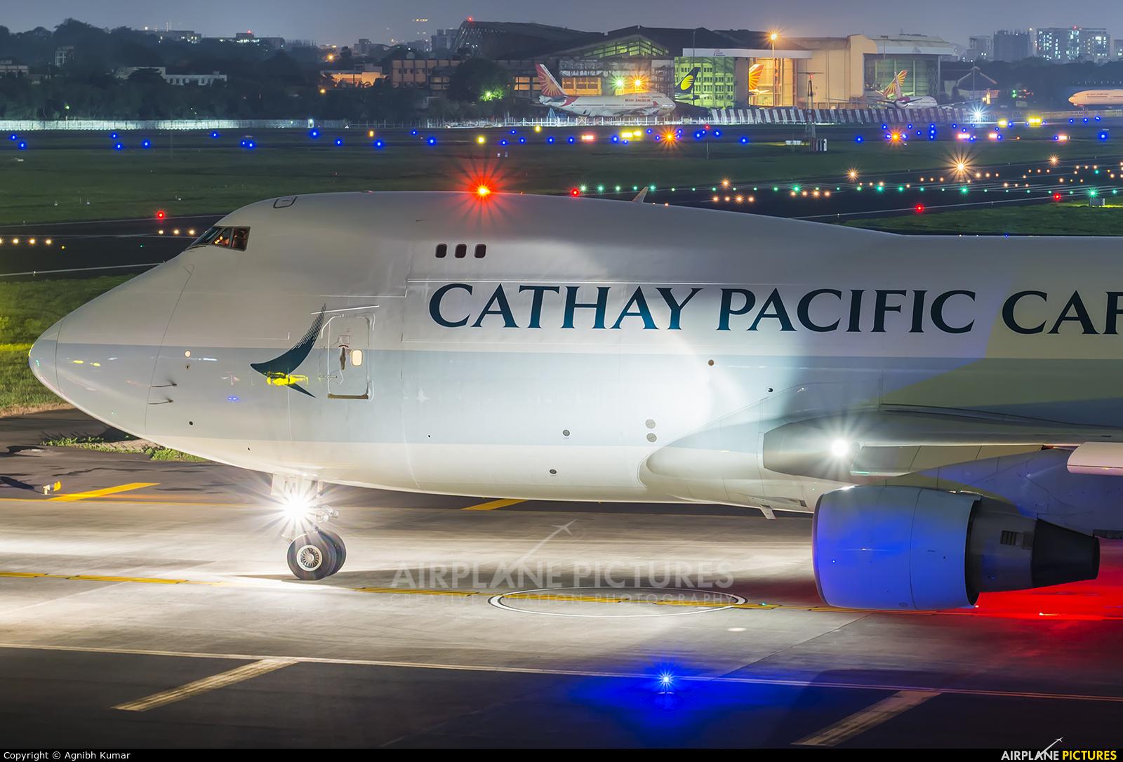 Cathay Pacific Cargo B-LIA aircraft at Mumbai - Chhatrapati Shivaji Intl
