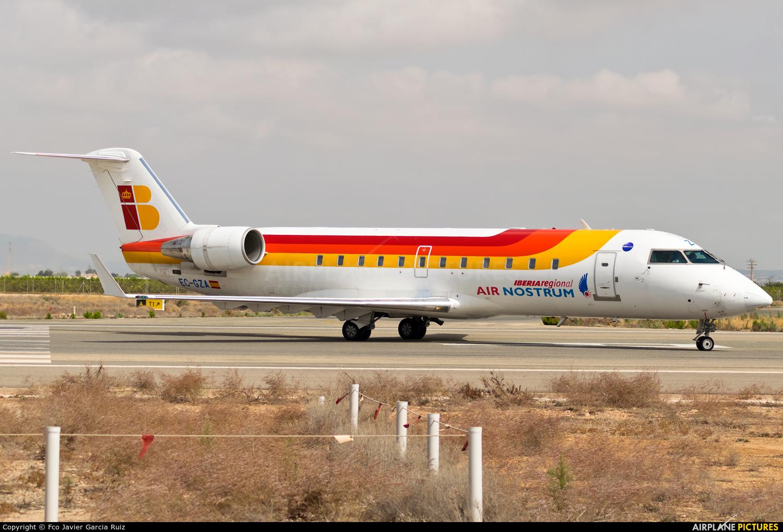Air Nostrum - Iberia Regional EC-GZA aircraft at Murcia - San Javier