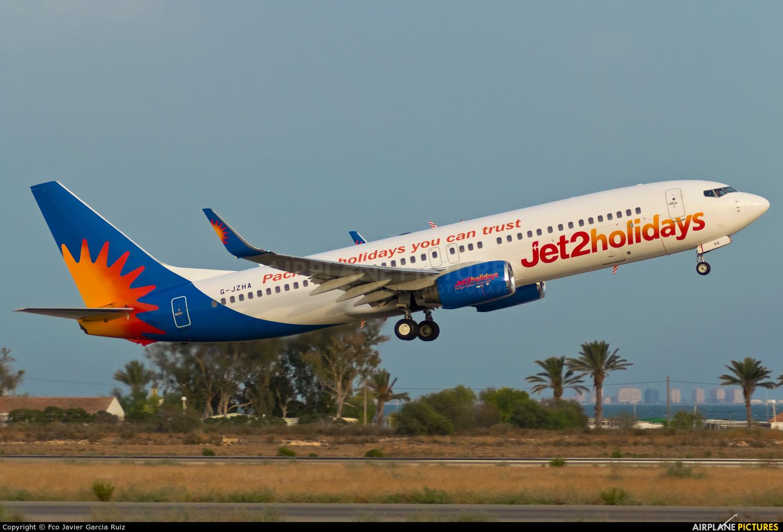 Jet2 G-JZHA aircraft at Murcia - San Javier