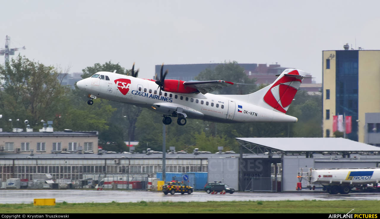 CSA - Czech Airlines OK-KFN aircraft at Warsaw - Frederic Chopin