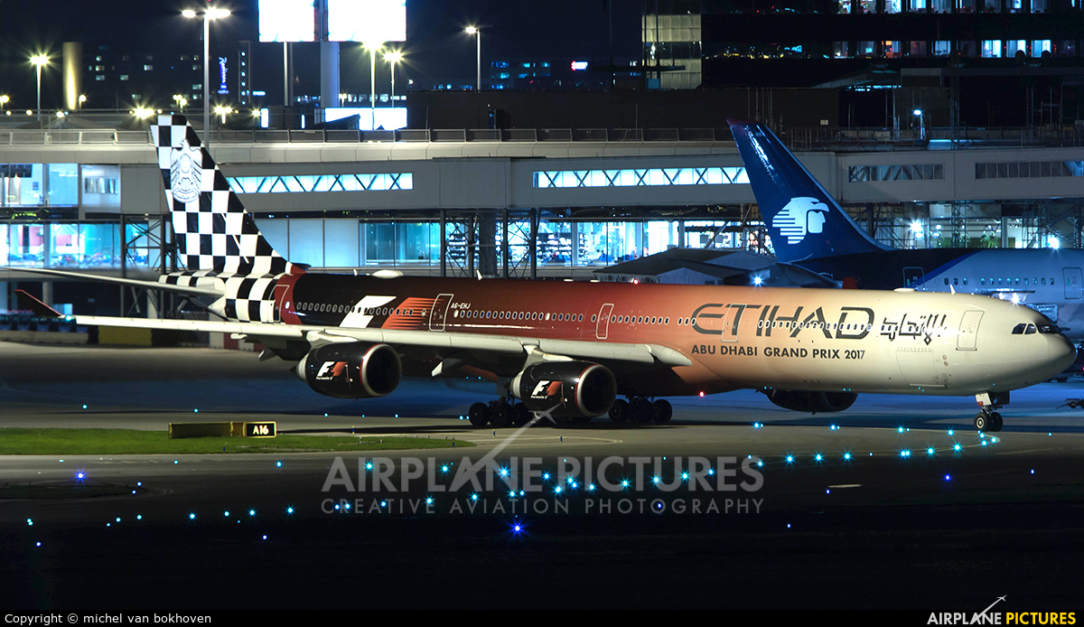 Etihad Airways A6-EHJ aircraft at Amsterdam - Schiphol
