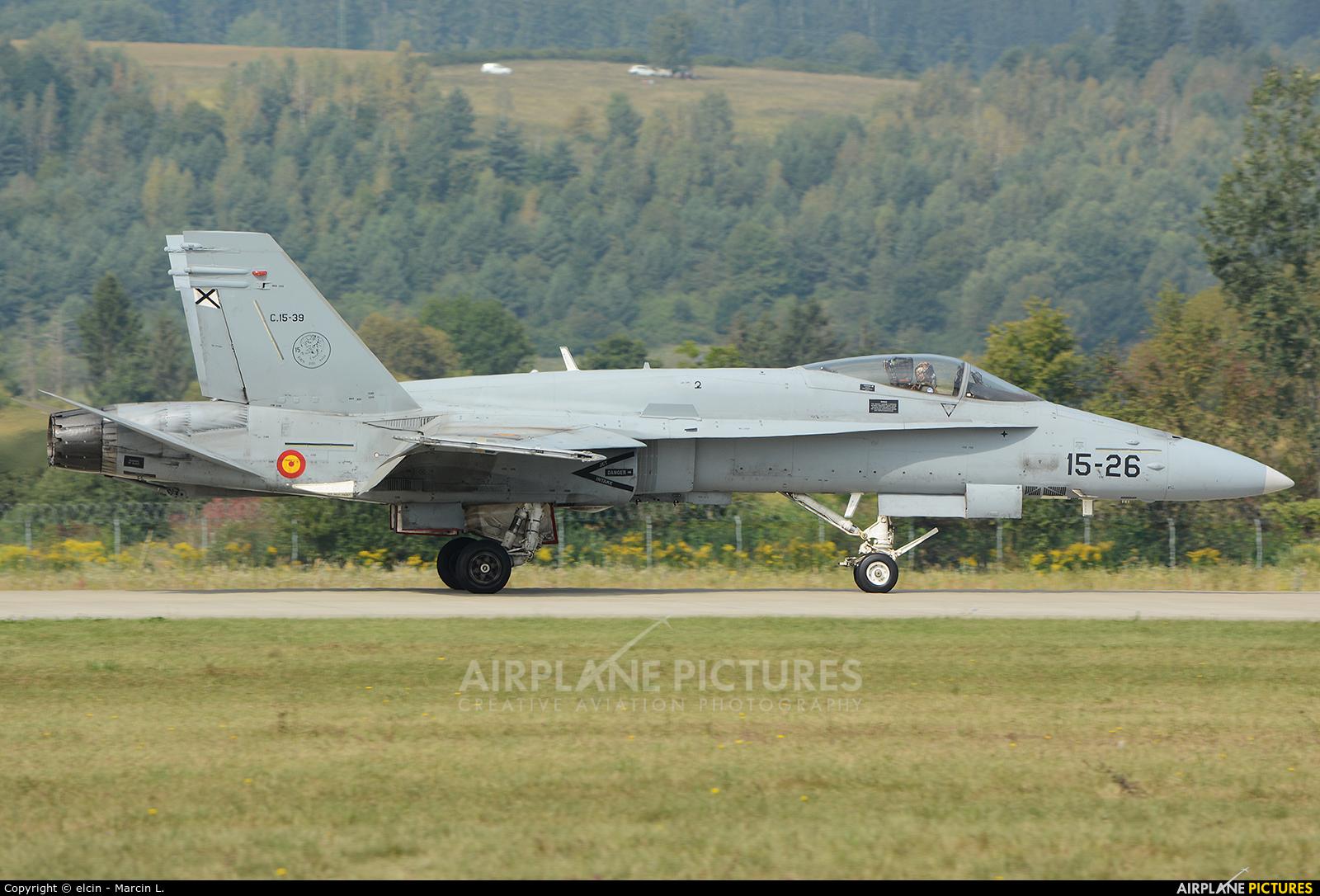 Spain - Air Force C.15-39 aircraft at Sliač