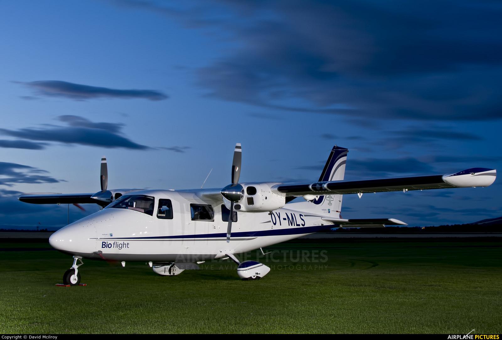 Bio flight OY-MLS aircraft at Perth - Scone