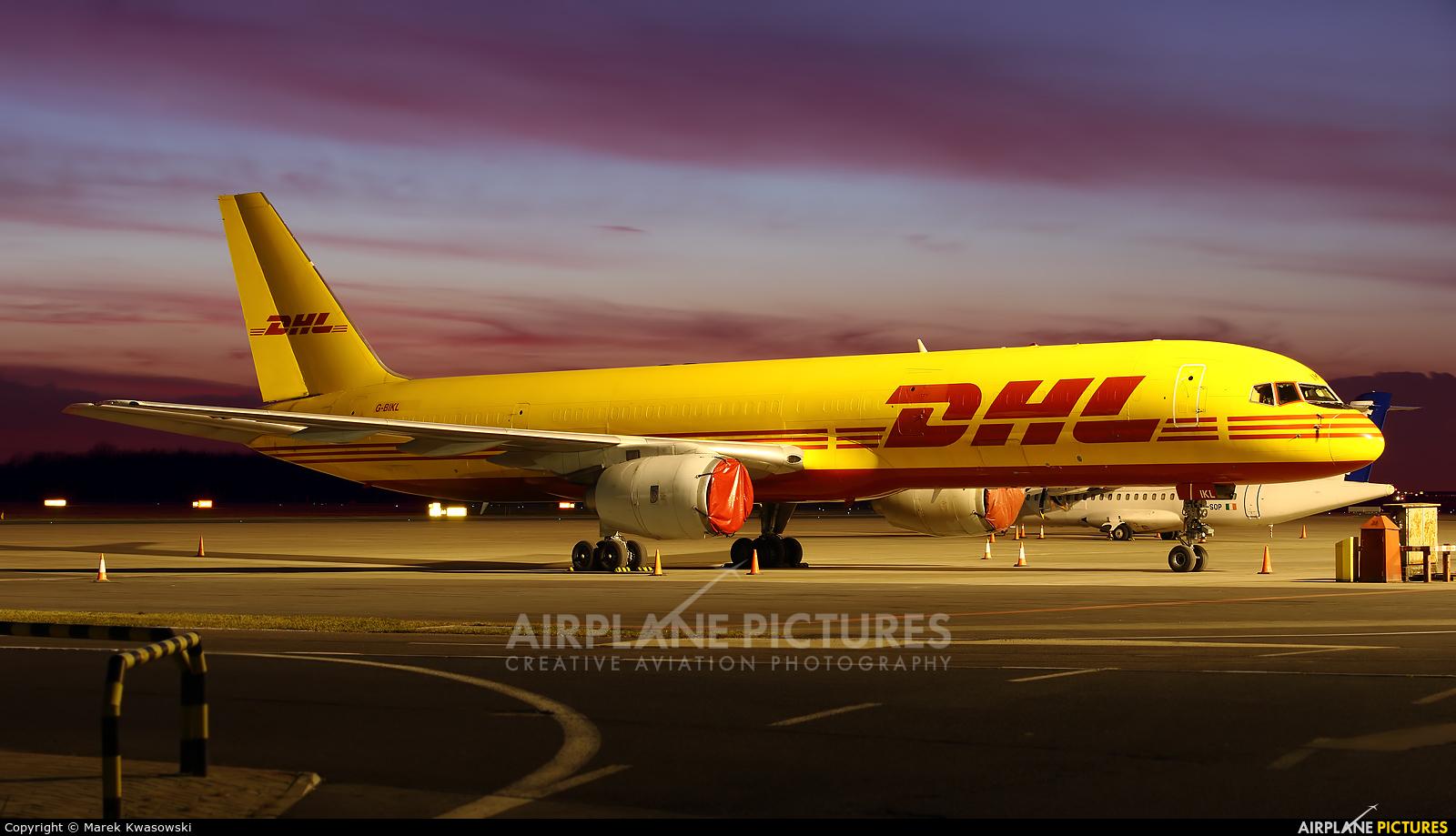 DHL Cargo G-BIKL aircraft at Warsaw - Frederic Chopin