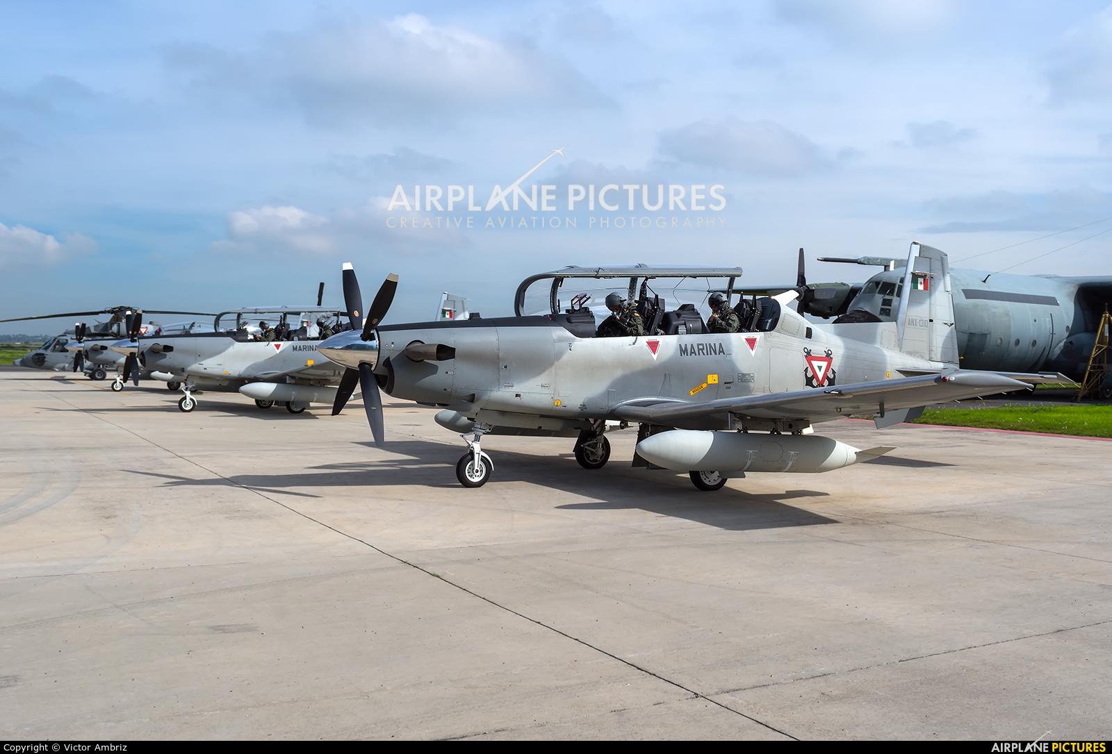Mexico - Navy ANX-1310 aircraft at Santa Lucia AB
