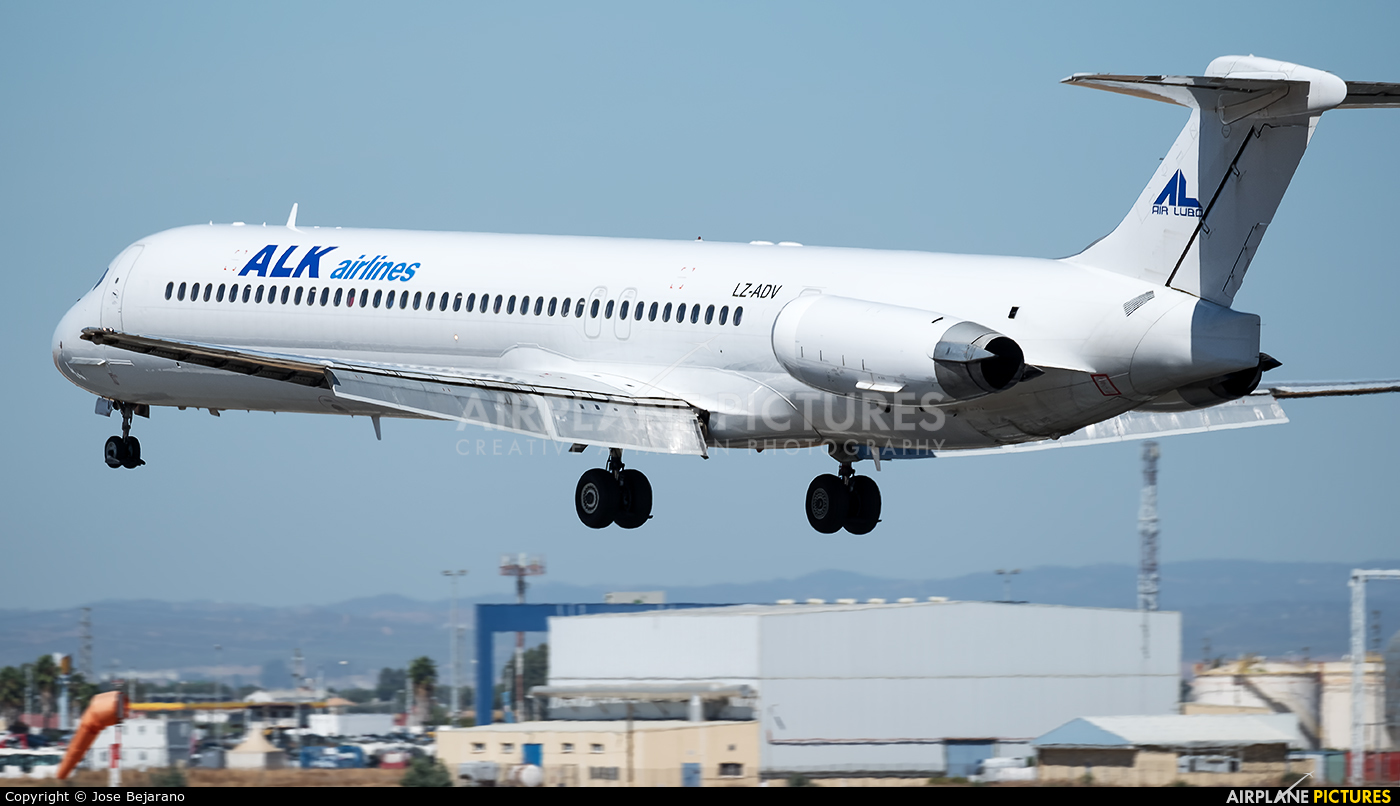 ALK Airlines LZ-ADV aircraft at Seville - San Pablo