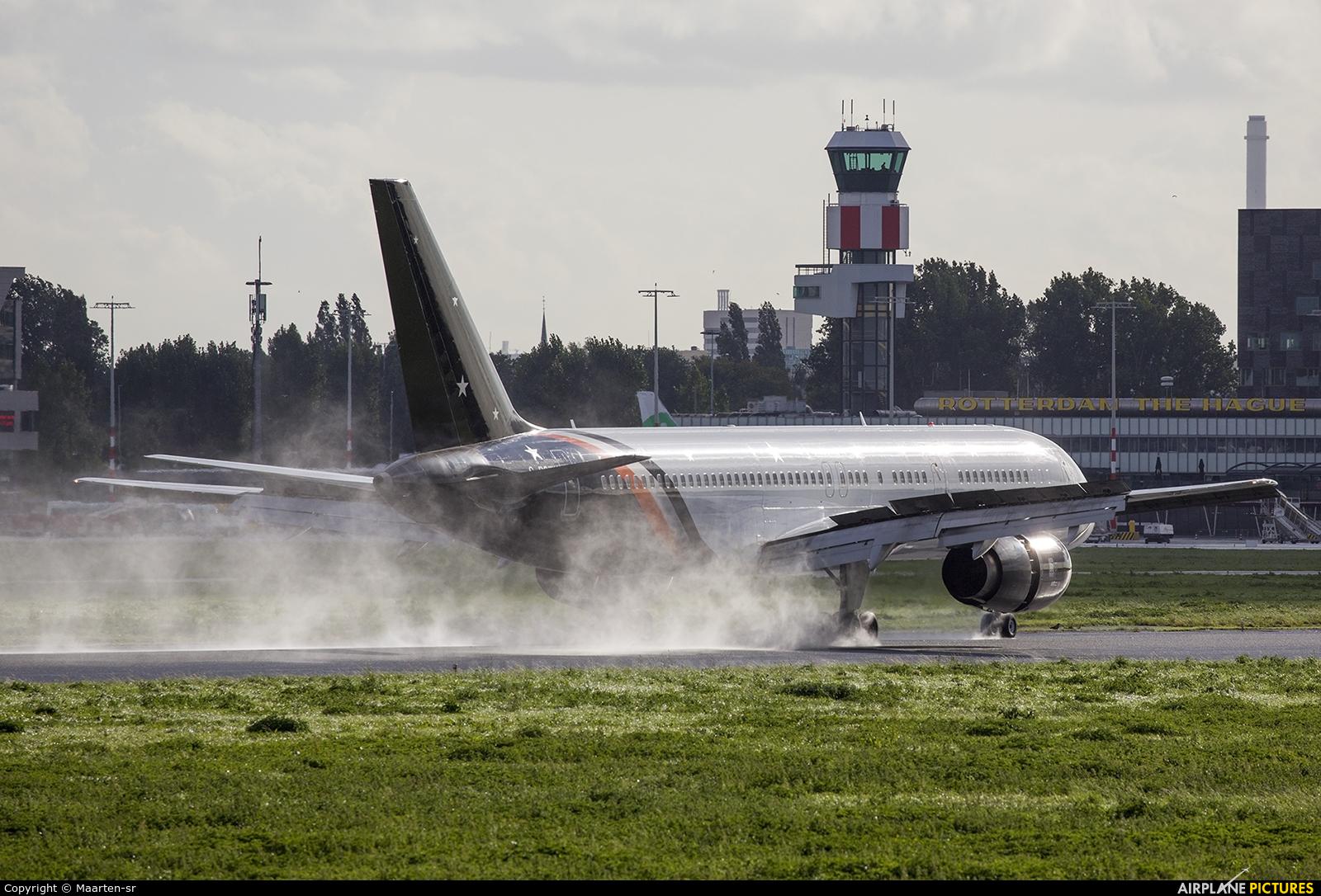 Titan Airways G-POWH aircraft at Rotterdam
