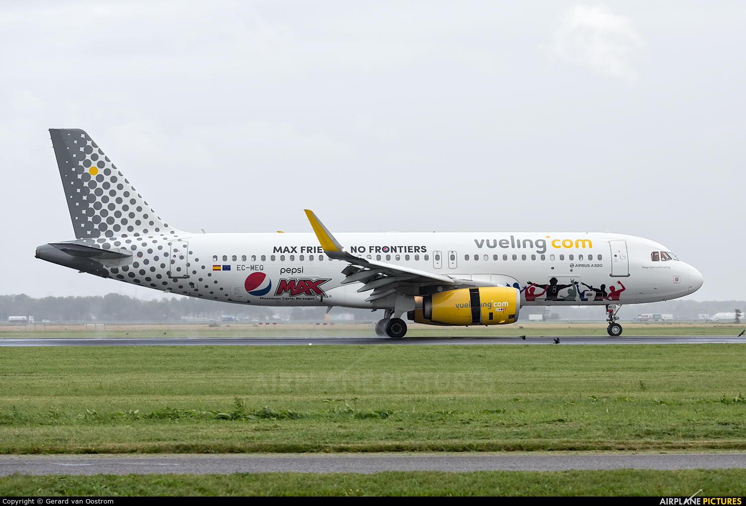 Vueling Airlines EC-MEQ aircraft at Amsterdam - Schiphol
