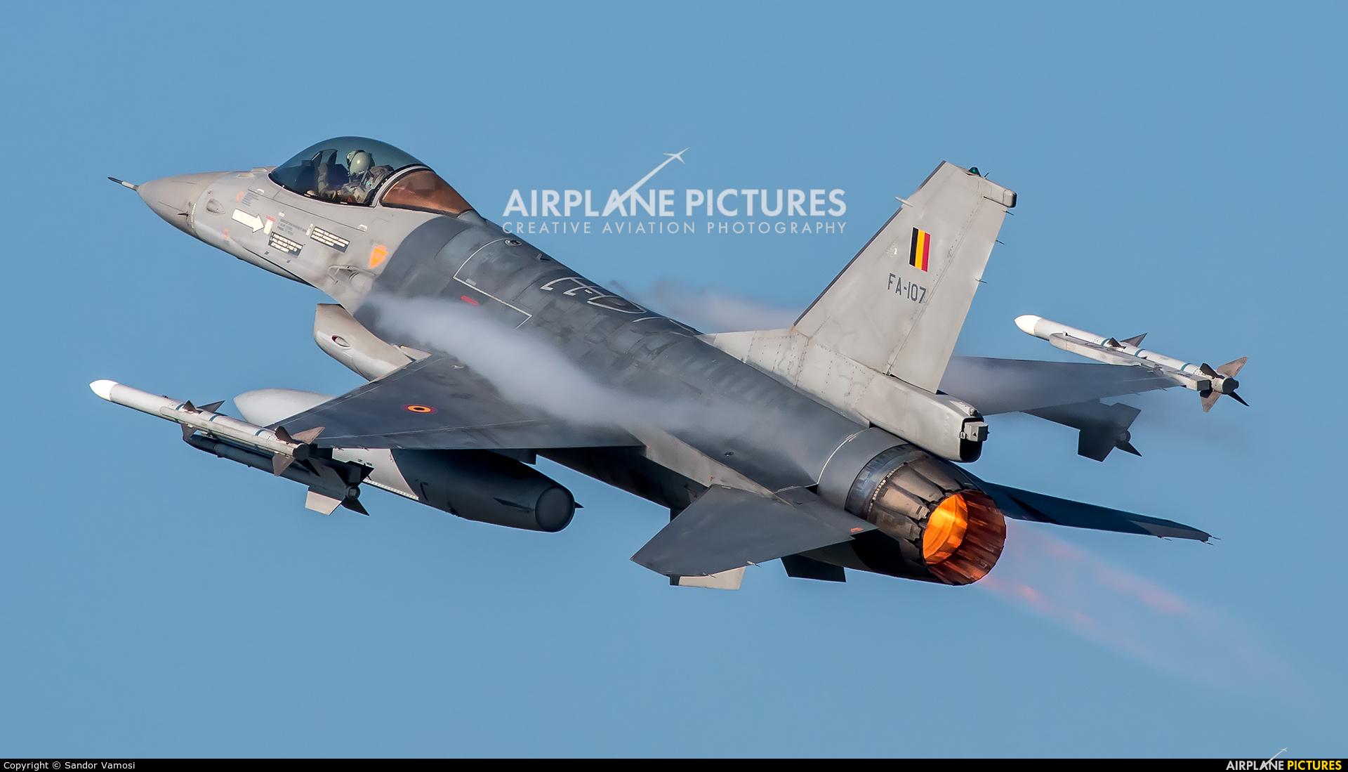 Belgium - Air Force FA-107 aircraft at Kleine Brogel