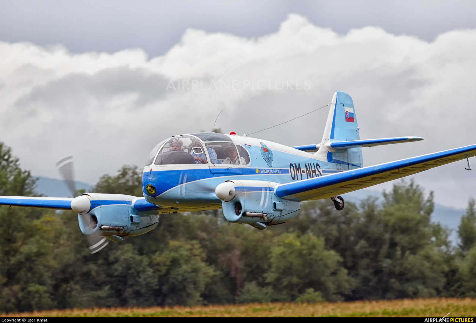 Private OM-NHS aircraft at Dubnica nad Vahom - Slavnica