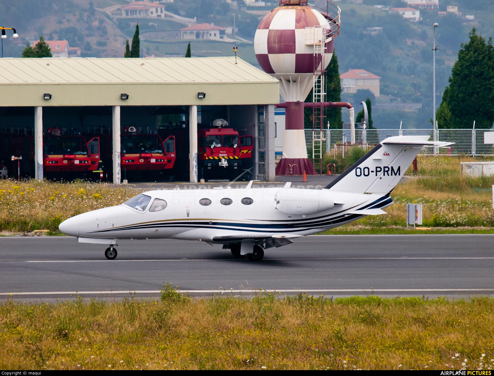 Private OO-PRM aircraft at La Coruña