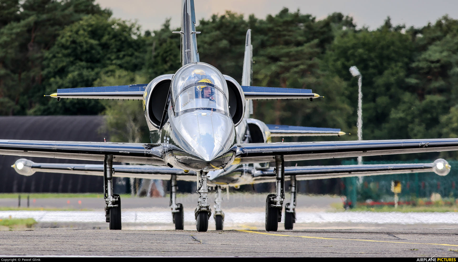 Breitling Jet Team ES-YLN aircraft at Leopoldsburg - Beverlo