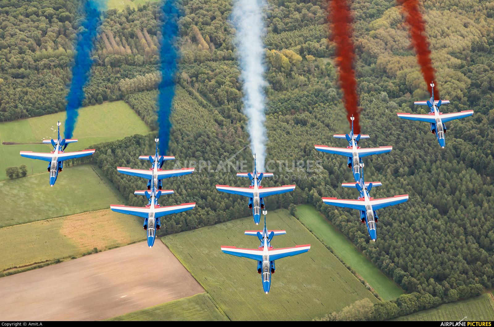 "France - Air Force ""Patrouille de France"" E31 aircraft at In Flight - Belgium"