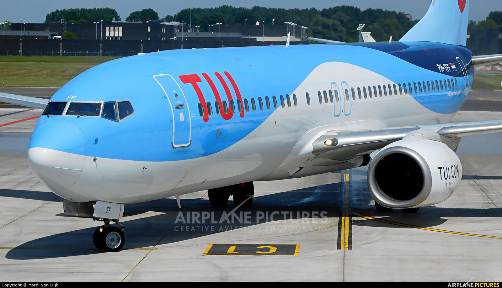 TUI Airlines Netherlands PH-TFF aircraft at Rotterdam