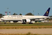 Saudi Arabian 777-300ER visits Malaga title=