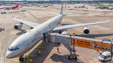 Etihad Airways Airbus A340-600 A6-EHK at Düsseldorf airport