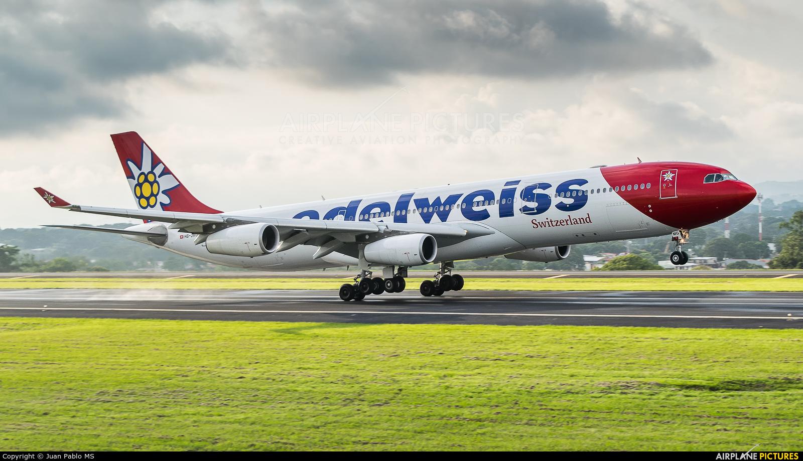 Edelweiss HB-JMG aircraft at San Jose - Juan Santamaría Intl