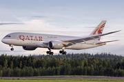 First visit of Qatar 787-8 Dreamliner to Helsinki title=