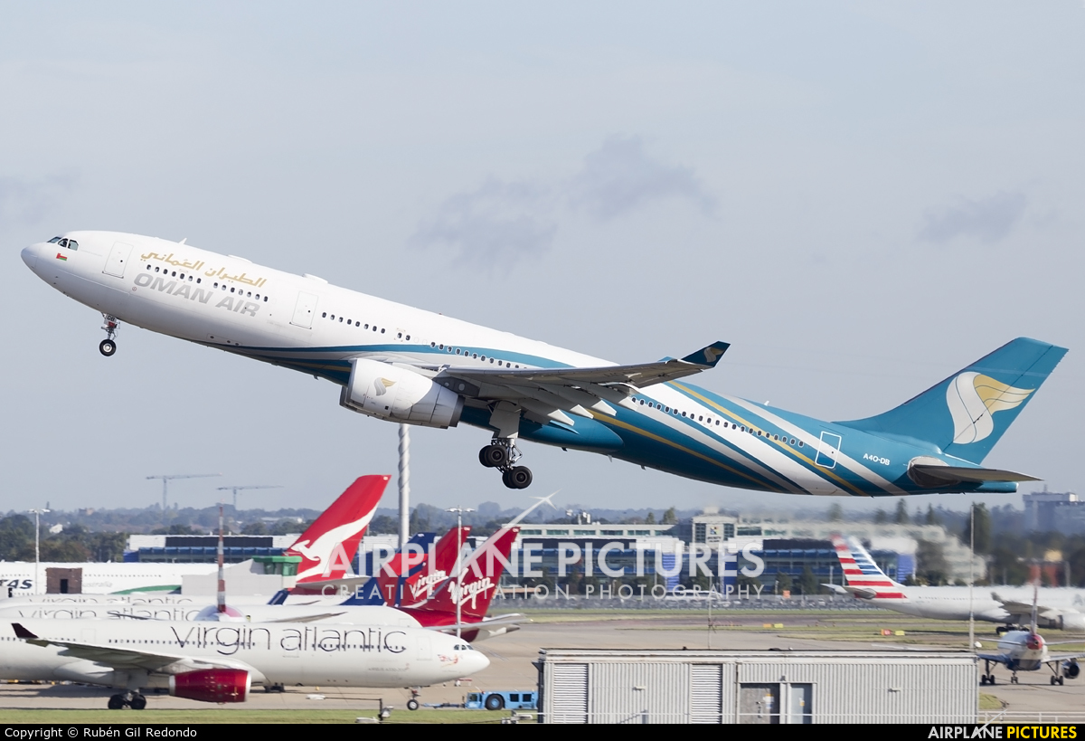 Oman Air A4O-DB aircraft at London - Heathrow
