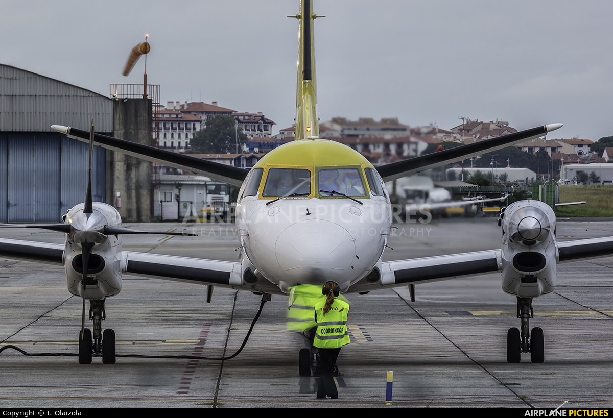 Skytaxi SP-MRC aircraft at San Sebastian
