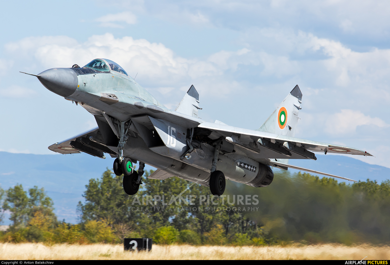 Bulgaria - Air Force 16 aircraft at Graf Ignatievo
