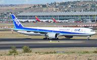 ANA Boeing 777-300ER visits Madrid Barajas title=