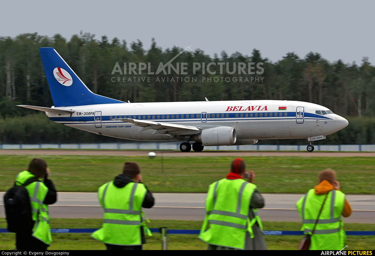 Belavia EW-308PA aircraft at Minsk Intl