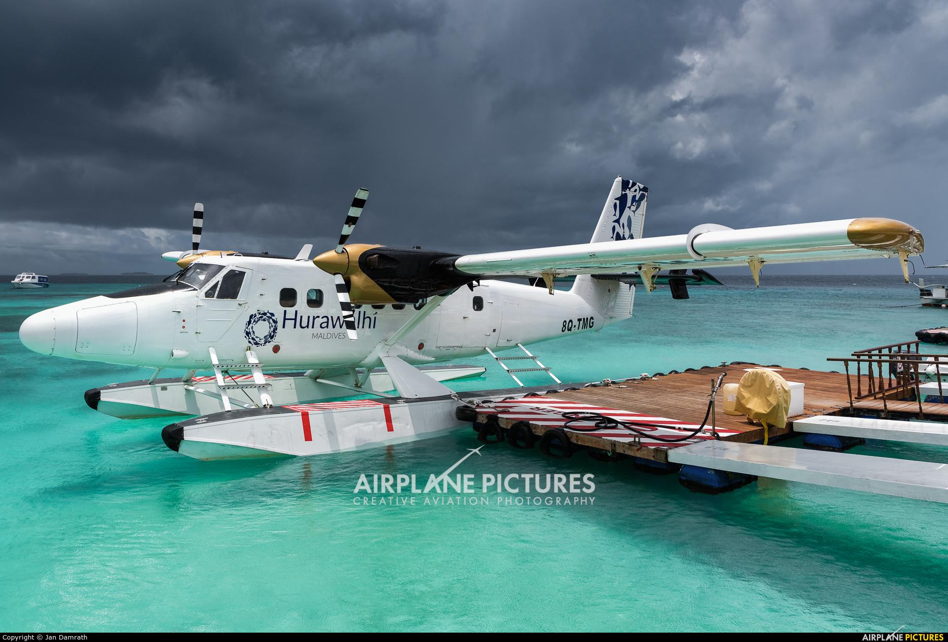 Trans Maldivian Airways - TMA 8Q-TMG aircraft at Off Airport - Maldives