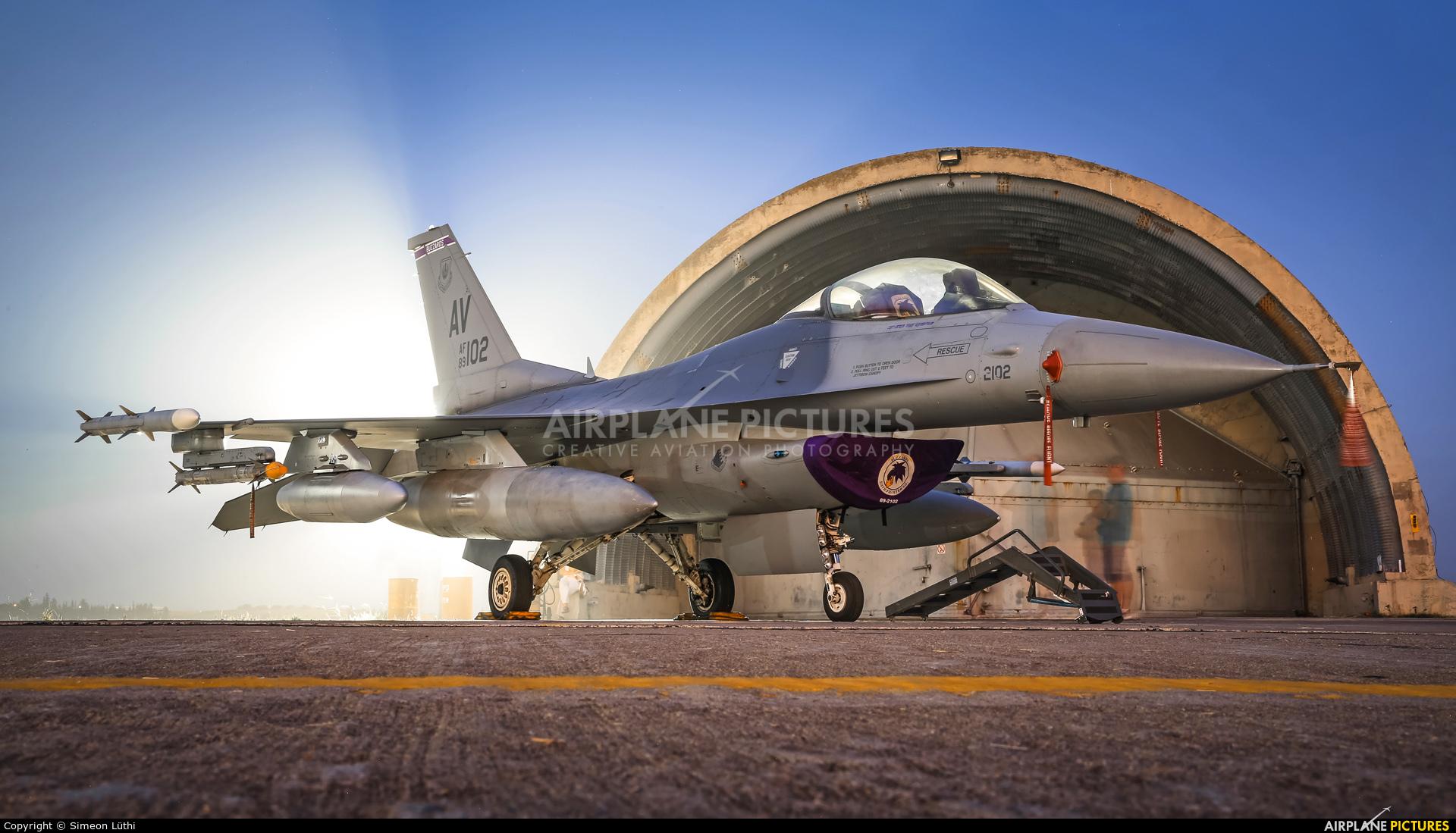 USA - Air Force 89-0102 aircraft at Tanagra