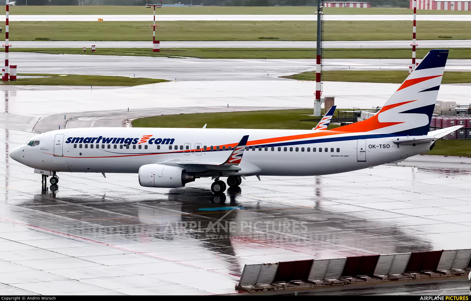 SmartWings OK-TSO aircraft at Prague - Václav Havel