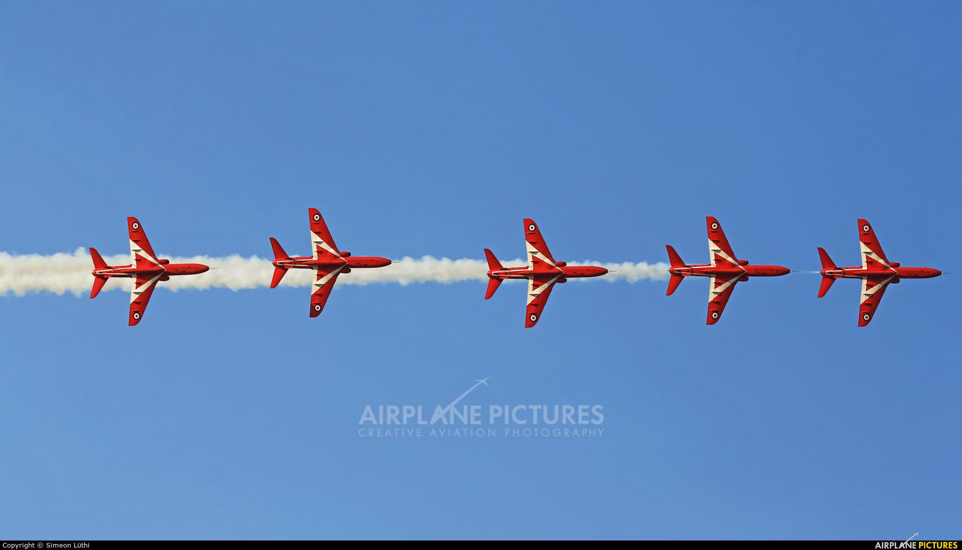 """Royal Air Force """"Red Arrows"""" XX319 aircraft at Tanagra"""