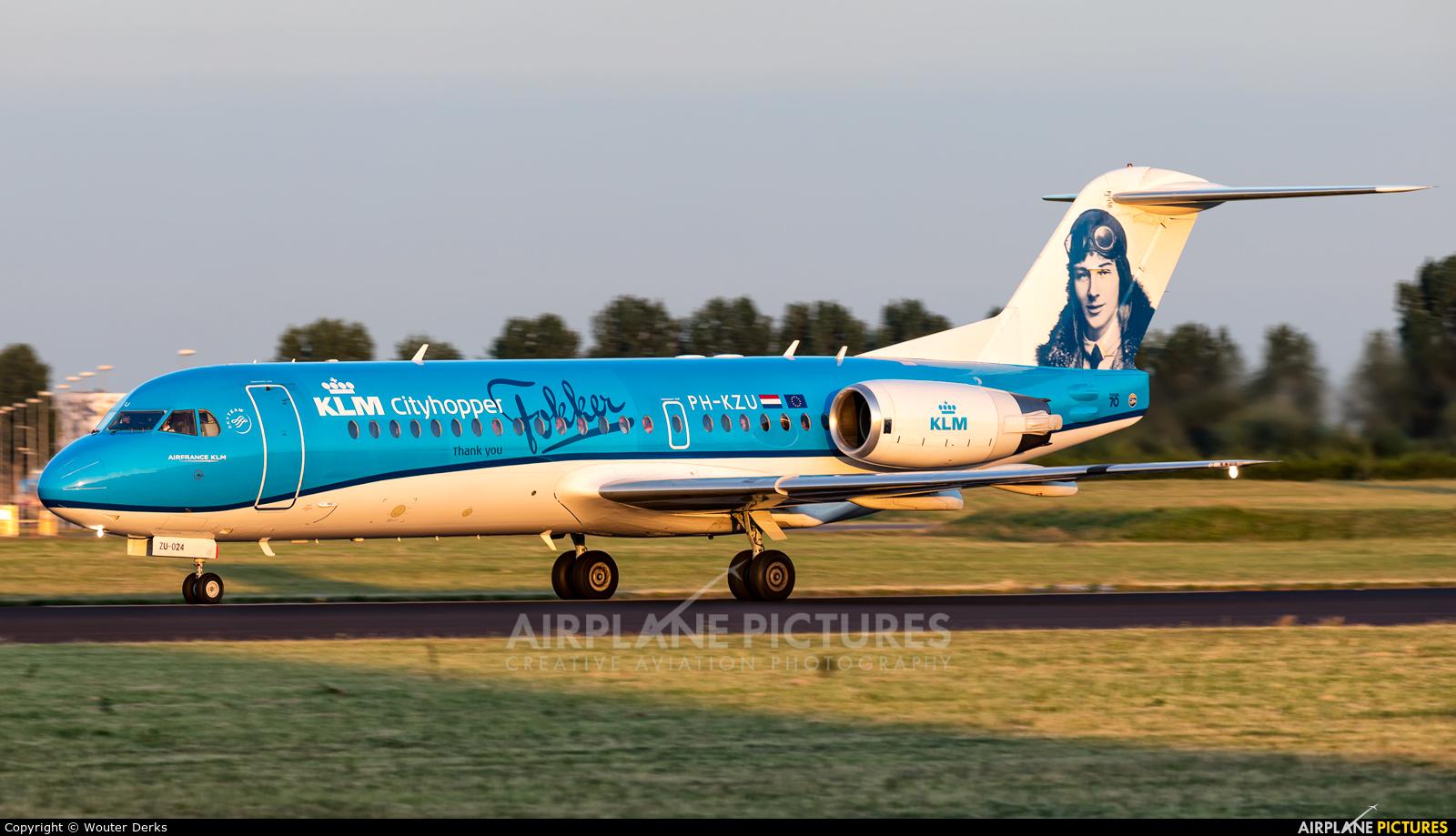 KLM Cityhopper PH-KZU aircraft at Amsterdam - Schiphol