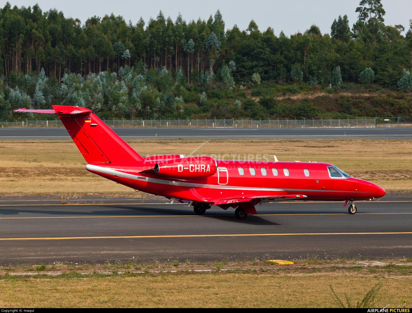 Private D-CHRA aircraft at Santiago de Compostela