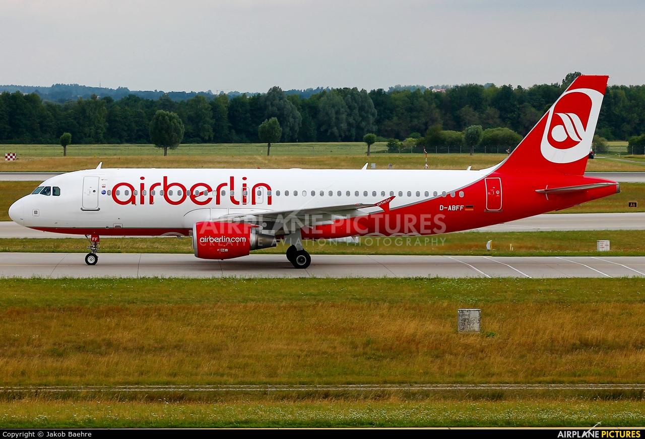 Air Berlin D-ABFF aircraft at Munich