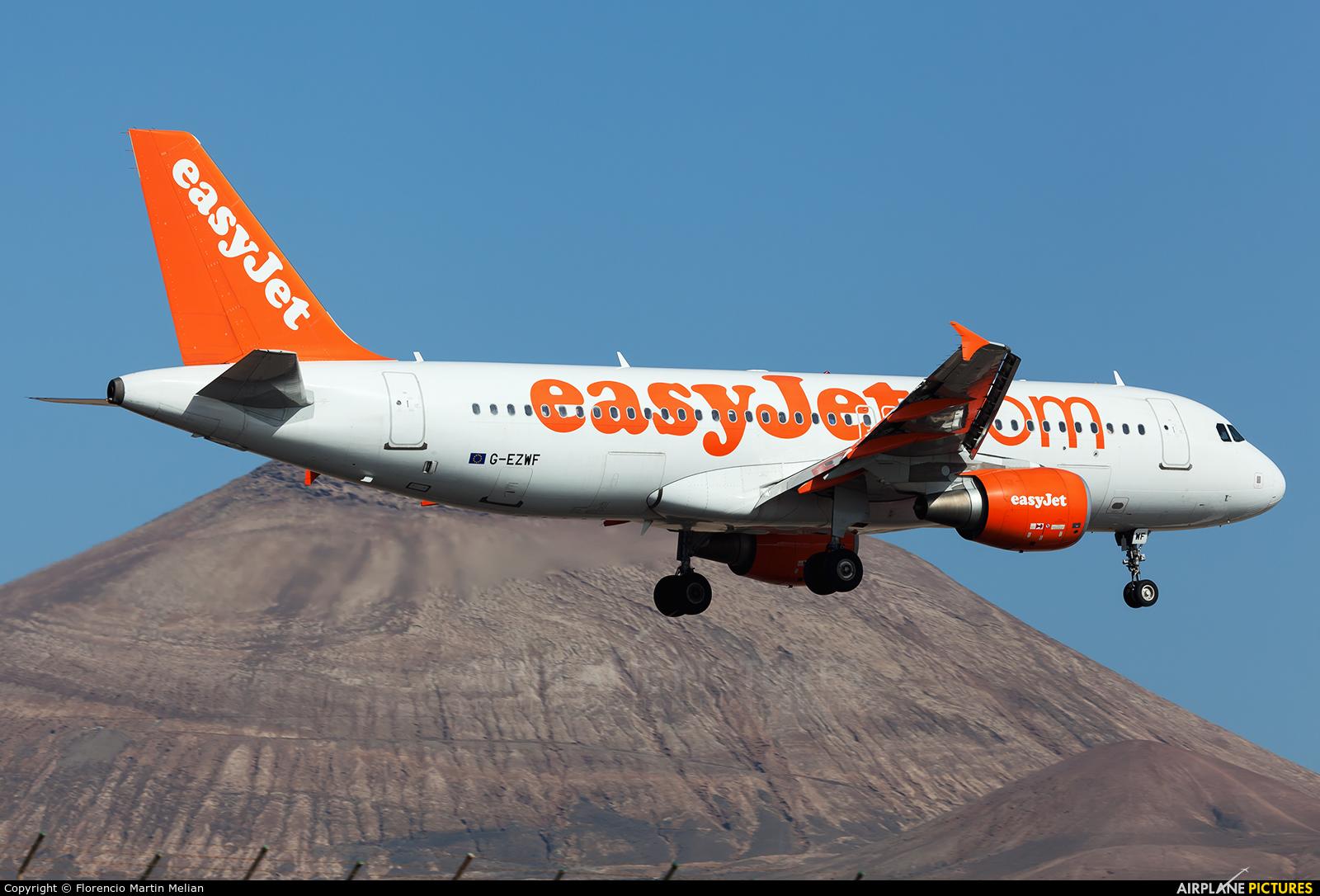 easyJet G-EZWF aircraft at Lanzarote - Arrecife