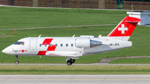 HB-JRA - REGA Swiss Air Ambulance  Canadair CL-600 Challenger 604 aircraft