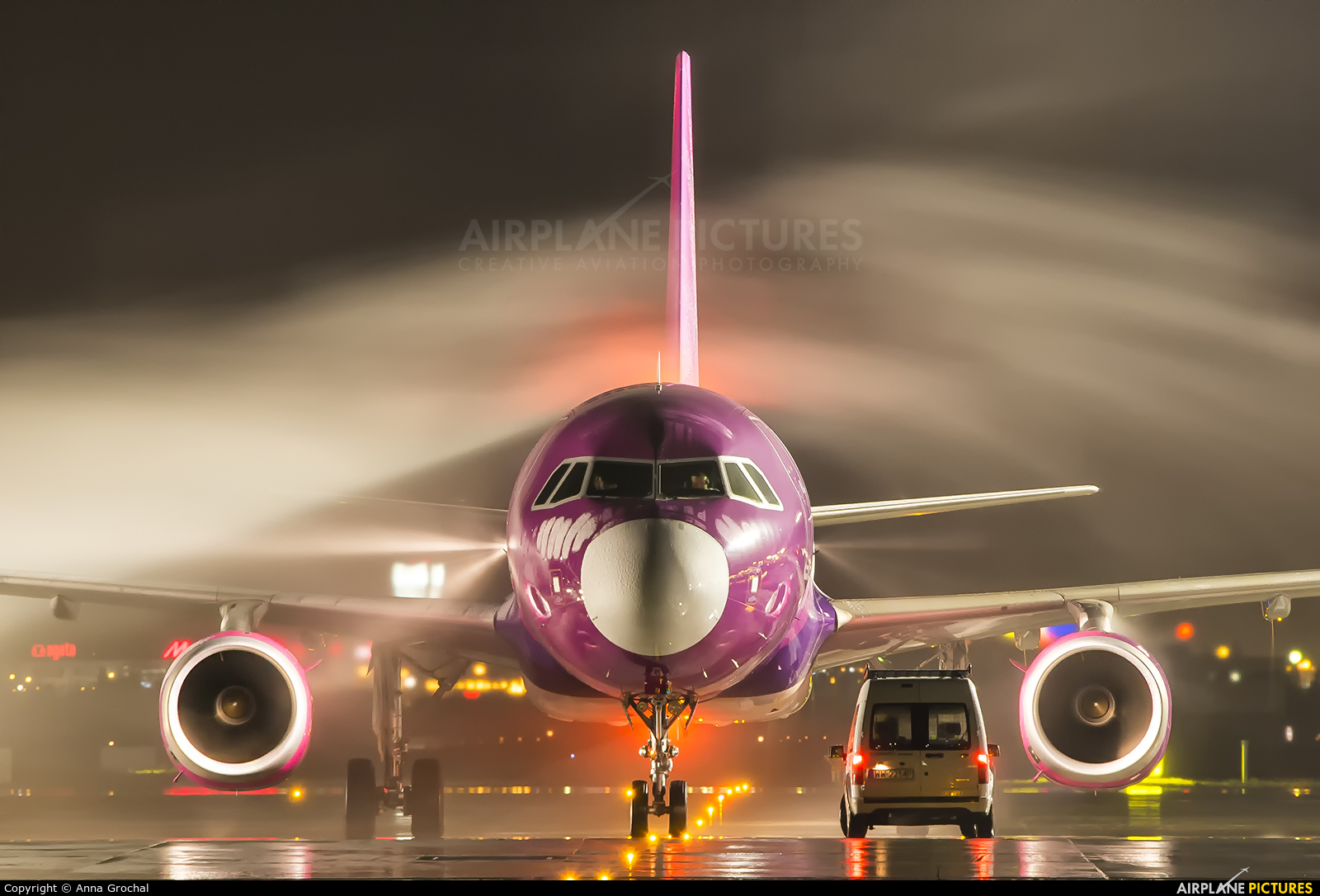 Wizz Air HA-LYC aircraft at Warsaw - Frederic Chopin