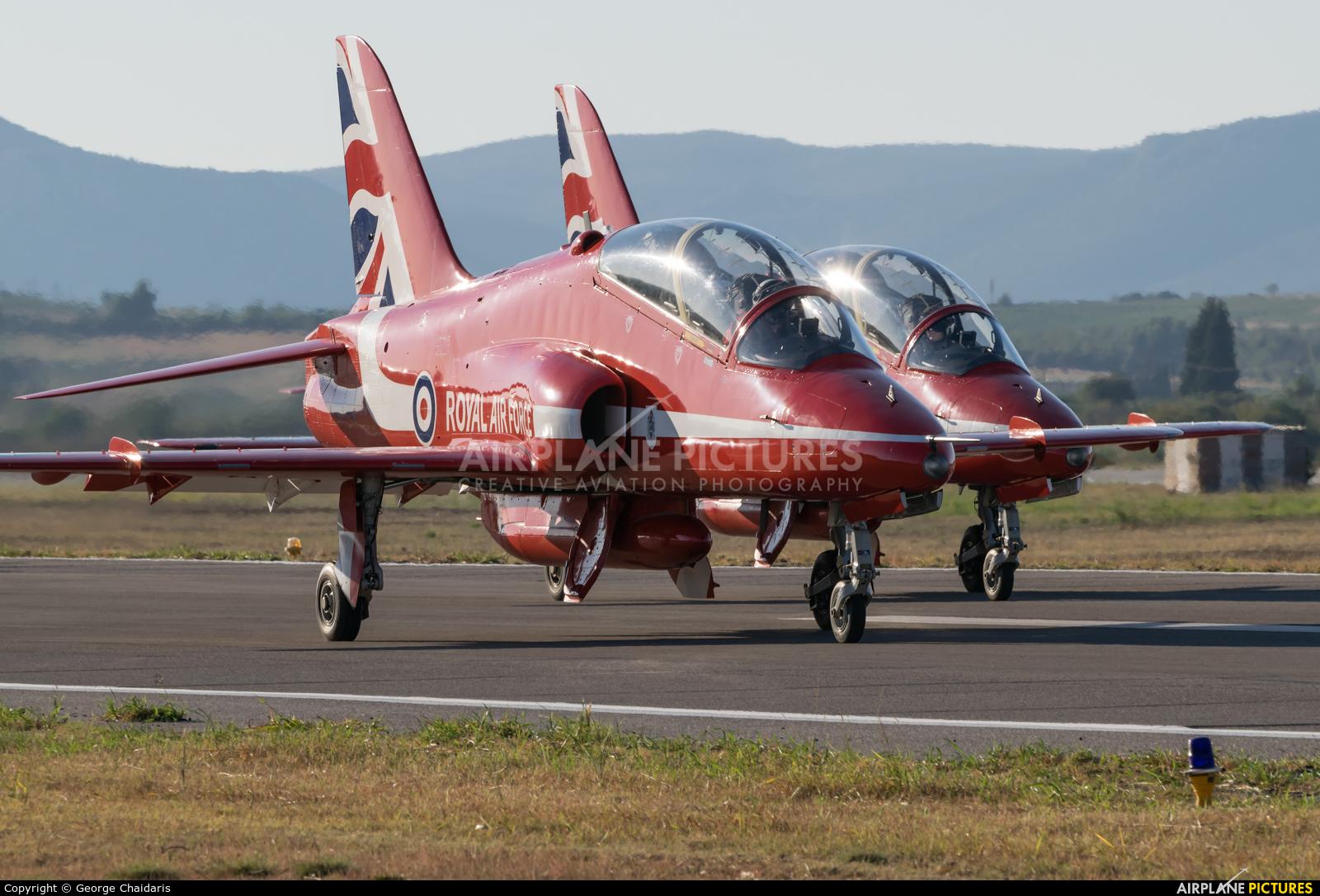 """Royal Air Force """"Red Arrows"""" XX242 aircraft at Tanagra"""